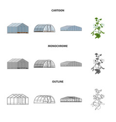 Design of greenhouse and plant sign vector