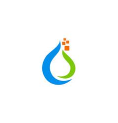 droplet bio technology logo vector image