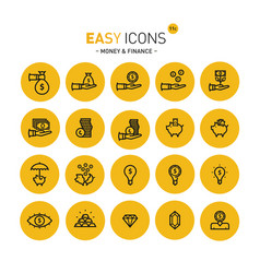 easy icons 11c money vector image