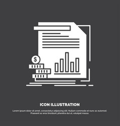 economy finance money information reports icon vector image