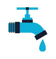 Faucet drop water vector