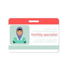 fertility medical specialist badge vector image