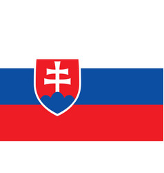 Flag of slovakia official colors and proportions vector
