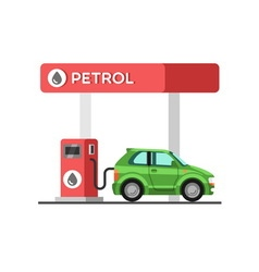 Fuel petrol station vector