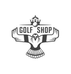 golf shop logotype vector image