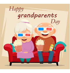 Grandparents day greeting card grandmother and vector