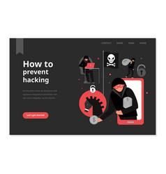 Hacker web page vector