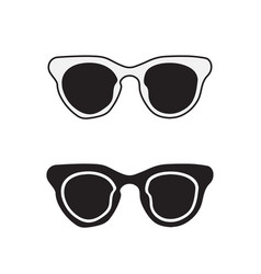 hand drawn glasses outline set vector image