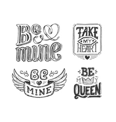 Hand lettering phrase for valentines day poster vector