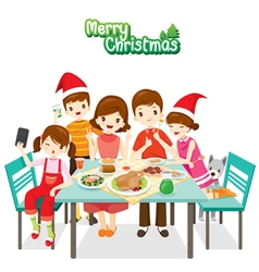 Happy Family Eating Together vector