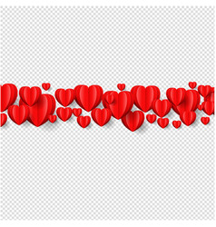 heart border isolated transparent background vector image