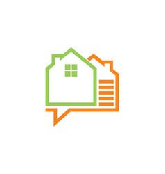 House data technology logo vector