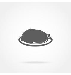 Icon chicken vector