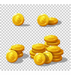 Icons coins for the game interface vector