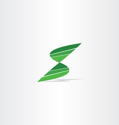 letter s logo green sign symbol icon vector image