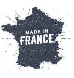 made in france seal silhouette french map vector image