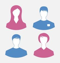 Male and female user icons modern flat design vector