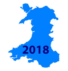 Map of wales 2018 vector
