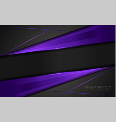Modern dark background and purple lines vector