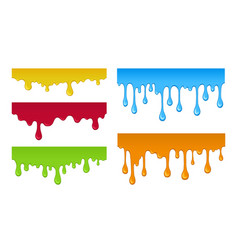 multicolored stains paint set isolated vector image