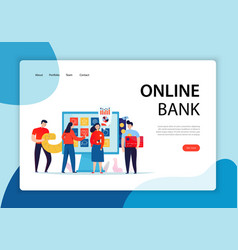 online banking concept banner vector image