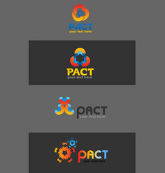 pact logo vector image