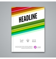 Poster Flyer Template Abstract colorful vector