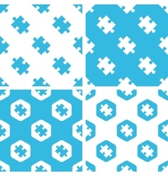 Puzzle piece patterns set vector