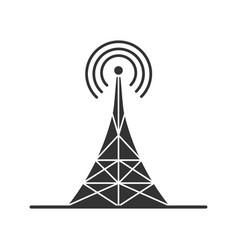 Radio tower glyph icon vector