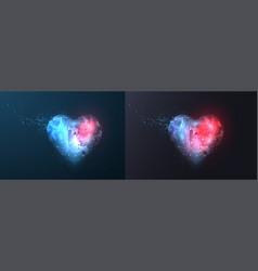 Rgbabstract polygonal heart vector