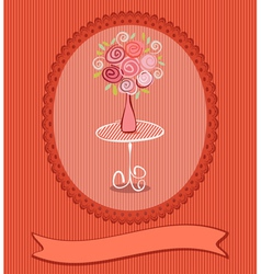 Roses postcard vector
