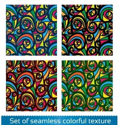 Seamless abstract pattern Colorful texture vector image