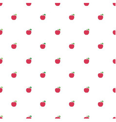 Seamless pattern with cartoon red apples vector