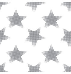 Seamless pattern with halftone stars vector