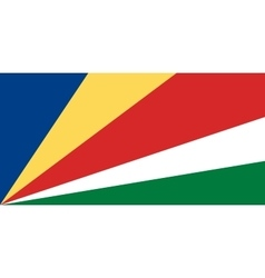 Seychelles flag in correct proportions and colors vector