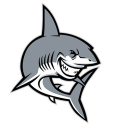 shark mascot vector image