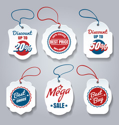 Shopping pricing tags set vector