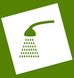 Shower simple sign white icon obtained as vector