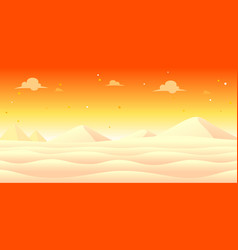 Snow evening game background vector
