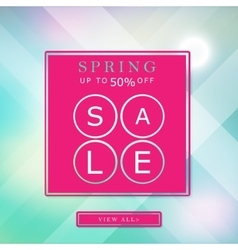 Spring sale banner bright background poster vector