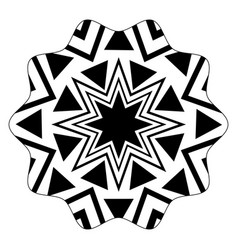 star with pattern geometric shapes background vector image