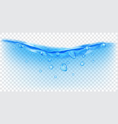 transparent water wave with bubbles vector image