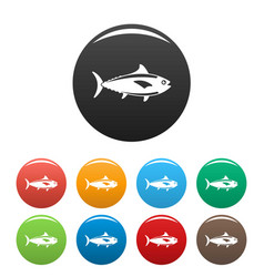 tuna fish icon simple style vector image