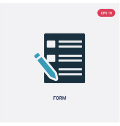 two color form icon from user interface concept vector image