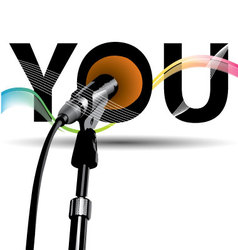 voice microphones color vector image