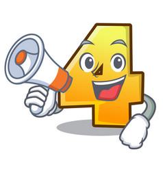 with megaphone character number four on the wall vector image