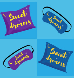 With pillow sleep mask vector