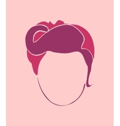 Woman silhouette Retro style vector image