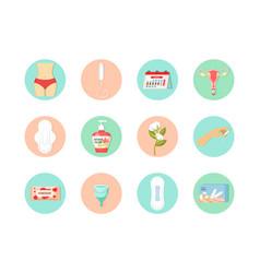 Womens menstrual days set intimate hygiene gel vector