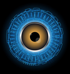 abstract technology digital circle eye vector image vector image